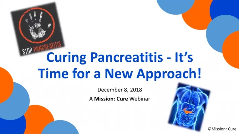 Curing Pancreatitis: It's Time for a New Approach!